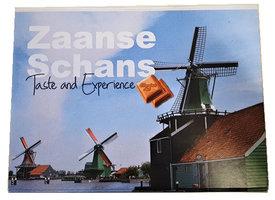 CHOCBOX MOLENS ZAANSE SCHANS COVER MET 3 X 100 gram chocolade tabletten (Buitenzijde beplakt)