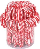 CANDY CANES ROOD/WIT HF