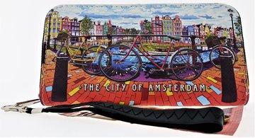 NF PORTEMONNEE AMSTERDAM CITY/GRACHT+FIETS 06