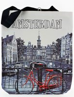NF TAS AMSTERDAM WIT/RODE FIETS 4
