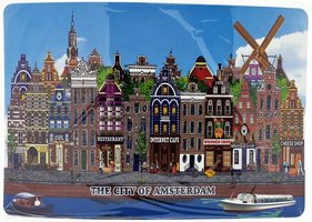 NF PLACEMATS AMSTERDAM BLAUW 21(4st)