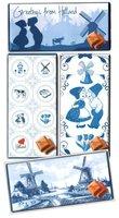 CHOCOLADE TABLET MELK Delftsblauwe serie [GLOSSY BIO]