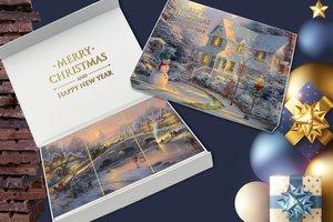 CHOCBOX KERST/NY(Sneeuwpop) [3 X100 gram]  chocolade tabletten (Buitenzijde beplakt)