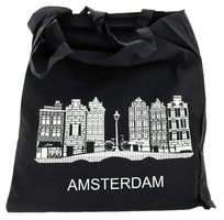 NF SHOPPER KATOEN ZWART / GEVELS AMSTERDAM