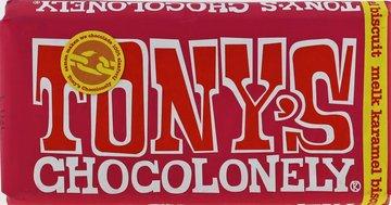 TONY'S CHOCOLONELY TABLET melk karamel buiscuit