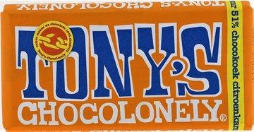 TONY'S CHOCOLONELY TABLET 51% chocokoek citroenkaramel puur