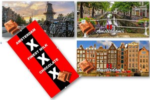 CHOCOLADE TABLET MELK Amsterdam [GLOSSY BIO]