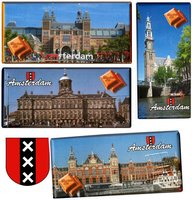 CHOCOLADE TABLET MELK Famous buildings in Amsterdam