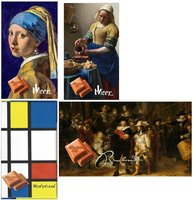 CHOCOLADE TABLET MELK Famous Dutch Painters [GLOSSY BIO]
