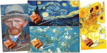 CHOCOLADE TABLET MELK VAN GOGH (4 afbeeldingen) [GLOSSY BIO]