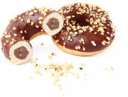 DONUTS GEVULD MET CHOCOLADE-HAZELNOOT
