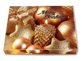 KERSTBOX GOLD BALLS COVER MET 3 X 100 gram chocolade tabletten *NIEUW*