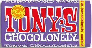 TONY'S CHOCOLONELY TABLET MELK KANEELBISCUIT