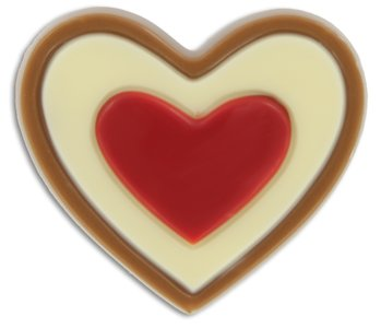 HART WIT/ROOD MELK [platte chocolade]  MELK